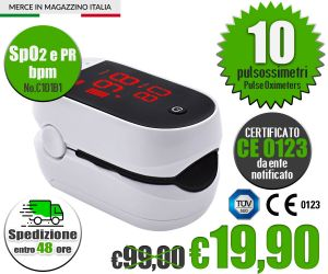 Pulsossimetro Saturimetro SpO2 PR da dito iMDK Pulse Oximeter C101B1 #N90056004586-10