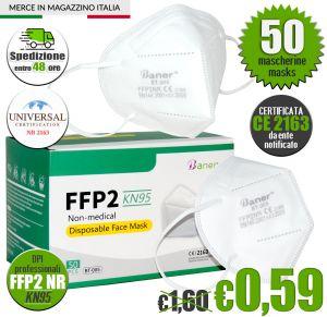 Mascherina FFP2 KN95 Certificata CE Baner BT-005 #N90056004604-50
