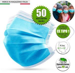 50Pcs Disposable Medical Face Mask for Children CE EN14683:2019 Tipo 1 #N90056004500-50