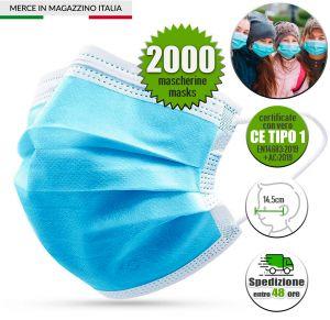 2000Pcs Disposable Medical Face Mask for Children CE EN14683:2019 Tipo 1 #N90056004500-2000