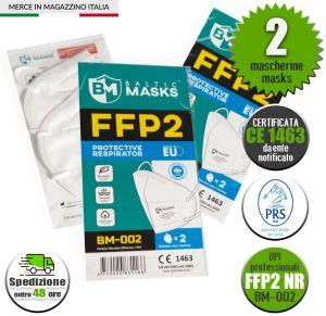 Mascherina FFP2 Certificata CE 1463 Baltic Masks BM-002 min 2Pz #N90056004603-2