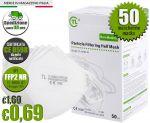 Mascherina FFP2 NR Certificata CE 0598 TL-KK95-01 Min 50Pz #N90056004624-50