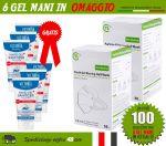 Pacchetto OFFERTA 100 Mascherine FFP2 + 6 Gel Igienizzanti in OMAGGIO #N90056004516