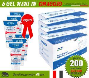 OFFER Package 200 Surgical Masks + FREE 6 Sanitizing Gels #N90056004517