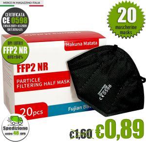 FFP2 NR Hakuna Matata LQTA11 Black Mask EC 0598 min 20 #N90056004406-20