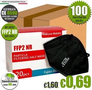 FFP2 NR Hakuna Matata LQTA11 Black Mask EC 0598 min 100 #N90056004406-100