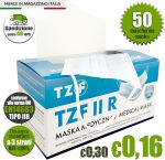 TZF IIR 3-layer Disposable Surgical Face Mask CE EN14683+AC:2019 50Pcs #N90056004491-50