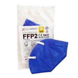 Mascherina FFP2 BLU Italiamedica Certificata CE2841 DPI Cat.III Made in EU #N90056004410