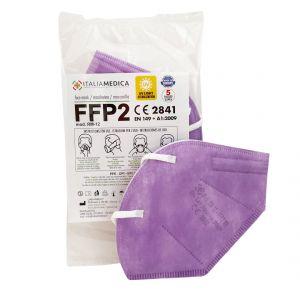 Italiamedica FFP2 LILAC Mask CE2841 Certified PPE Cat.III Made in EU #N90056004413