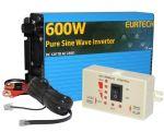 Kit Inverter Onda Pura 12/230V 600/1200W con Pannello di Controllo Remoto #22022300