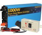 Kit Inverter Onda Pura 24V 230V 1000 2000W con Pannello di Controllo Remoto