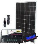 Pannello Solare 12V 100W + Regolatore 10A + Connettori MC4 + Misuratore #30200117