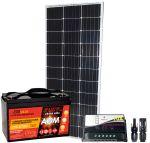 Pannello Solare 12V 100W + Regolatore 10A + Batteria 100Ah + Connettori MC4