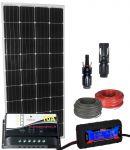 Pannello Solare 12V 150W (160W) Regolatore 10A Connettori MC4 Misuratore Cavi #30200132
