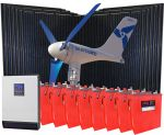 KIT Ibrido Fotovoltaico 48v 3Kw con Eolico 0.5Kw Inverter 2.4kW Batterie 24,19Kwh #30203025