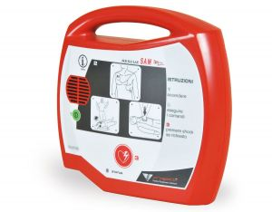 AED RESCUE Sam DFBSAM Semiautomatic Defibrillator Made in Italy #56004200
