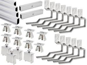 KIT Struttura di fissaggio 5 pannelli Fotovoltaici 60 celle per Falda inclinata #31510004