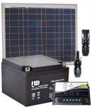 Pannello Solare 12V 50W + Regolatore 10A + Batteria 24Ah + Connettori MC4 #30200065