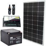 Pannello Solare 12V 100W + Regolatore 10A + Batteria 24Ah + Connettori MC4 #30200133