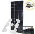 Kit Solare Camper 100W 12V Mono con Regolatore 10A Supporto Speciale #30200100SF