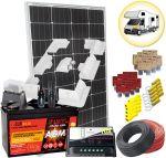 Kit Solare Camper 100W 12V Mono con Regolatore 10A Batteria AGM 100Ah Accessori Elettrici Supporto Speciale #30200125SF