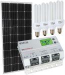 Kit Solare 12V 150W (160W) Mono + Regolatore MPPT 20A + Lampadine CFL 15W #30200168CFL
