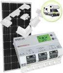 Kit Solare Camper 12V 150W (160W) Mono con Regolatore MPPT 20A e Supporto Speciale #30200168SF