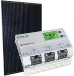 Kit Solare Fotovoltaico 12V 260W Poly con Regolatore Solare MPPT 20A 12-24V #30200291