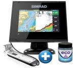 Simrad Eco/Gps GO-5 XSE con Trasduttore TotalScan e Antivegetativa ECO OMAGGIO
