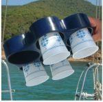 Ocean Vassoio Portabicchieri + Portabottiglie  - Blu Navy - 270x230x50mm - Codice: 18205688