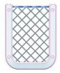 Rete porta Cellulare/Palmare in poliestere e cornice in ABS bianco - Codice: 18204476