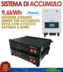 Storage Kit 9,6kWh Kit di Accumulo Ideale per impianti già connessi con GSE #31052103