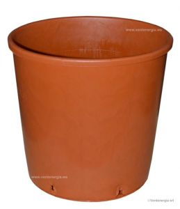 Round Nursery Pot D.24cm - H.24cm - LT9,5 - Earthenware Color - Code: 80VRO24