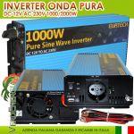 Inverter Onda Sinusoidale Pura 1000W/2000W 12VDC-230V AC Eurteck - #22020929