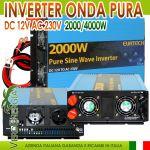 Inverter Onda Sinusoidale Pura 2000W/4000W 12VDC-230V AC Eurteck - #22020930