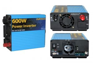 Inverter Onda Sinusoidale Modificata 600W 12VDC-230V AC Eurteck - #22022060