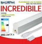 LED Tube T5-60cm 8W/2700-3200K/Warm White/Satin Finish ≥800 Lm  - Code: 27560199