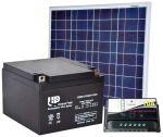 Kit Solare 12V 50W Poly + Batteria AGM 24Ah + Regolatore PWM 10A #30200068